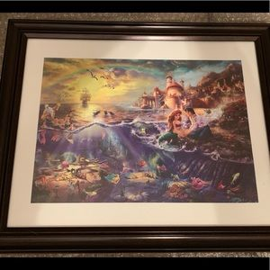 The Little Mermaid - Thomas Kincaid Framed Print